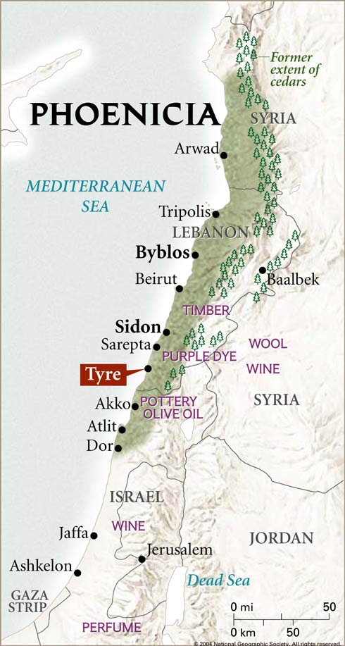 MAP OF PHOENICIA